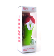 Brio Red & Green Walrus Rattle