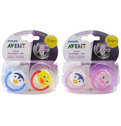 Avent Animal Design Silicone Soother 0-6 Months