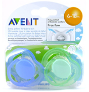 Avent Freeflow Silicone Soothers 6-18 Months- Blue…