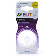 Philips AVENT Natural Bottle Fast Flow Teats 6m+ 2…