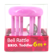 Brio Coloured Bell Rattle in Pink