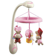 Chicco Dreamy Mamma Rabbits Mobile in Pink