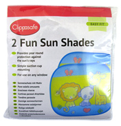 Clippasafe Car Fun Sun Shades (2 PACK)