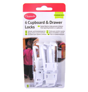 Clippasafe Cupboard Locks 6 Pack