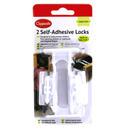 Clippasafe Self-Adhesive Locks 2 Pack
