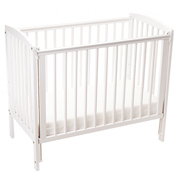 Toddletime Capri Spacesaver Cot WHITE
