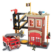 Imaginext Fire Station & Engine