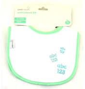 Junior Macare 2 Cotton Embroidered Bibs- ASSORTED